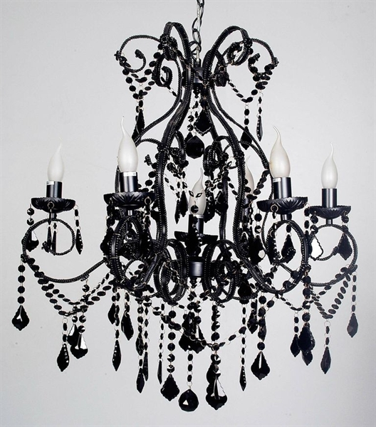 Venice 7 Light Black Pendant (50451-Italux) V & M Imports