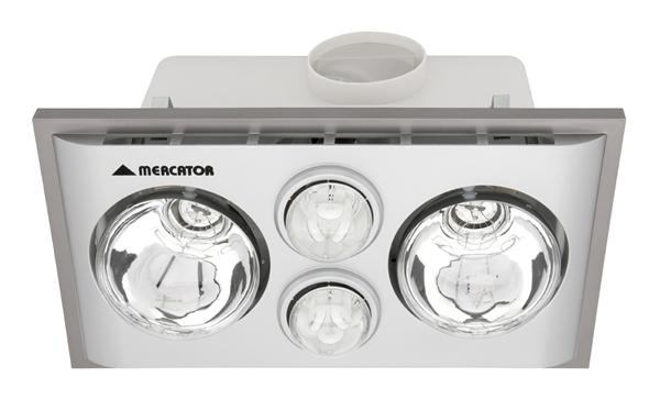 Lava Duo Bathroom Heater (BS022CSW) Mercator Lighting