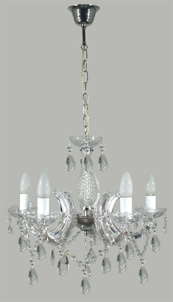 Marie therese 5 light crystal chandelier marie theresepd5lt marietheresepd5lt 2 mozeypictures Image collections